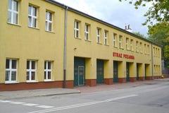 Le bâtiment du numéro de la pièce de lutte de délivrance et contre l'incendie 5 dans le secteur Image libre de droits