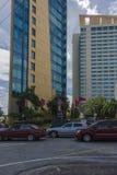 Le bâtiment du Parlement du Trinidad-et-Tobago sur la route de Wrightson Image stock