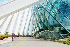 Le bâtiment en parc fait du jardinage par la baie, Singapour Photo stock