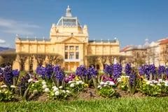 Le bâtiment historique d'Art Pavilion en capitale de Zagreb de la Croatie photographie stock