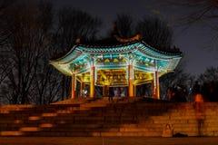 Le bâtiment historique en Corée Images stock