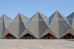 Le bâtiment moderne du centre de concert Images stock