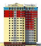 Le bâtiment résidentiel 3d rendent Image libre de droits