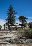 Le bâtiment scolaire d'île de Robben Photo stock