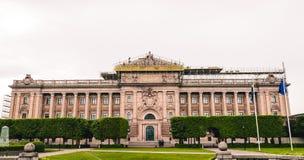 Le bâtiment suédois du Parlement photographie stock libre de droits