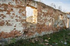 Le bâtiment tombe en morceaux Images libres de droits
