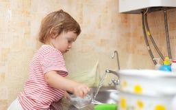 Le bébé lave des paraboloïdes Images stock