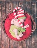 Le bébé nouveau-né Images stock