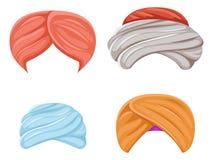 Le bédouin sikh de sultan de culture de turban indien arabe de coiffe a isolé la photo visuelle d'effets de causerie de conceptio illustration stock