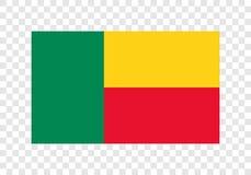 Le Bénin - drapeau national illustration de vecteur