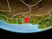 Le Bénin en rouge le soir Image stock
