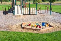 Le bac à sable de terrain de jeu joue le gymnase de jungle Photographie stock libre de droits