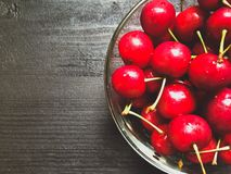 Le bacche delle ciliege si chiudono su Fotografie Stock
