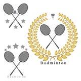 Le badminton de thème Photos stock