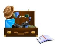 Le bagage du photographe, vecteur de cdr Illustration Stock