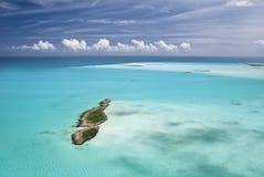 Le Bahamas dal cielo, paradiso dell'isola Fotografie Stock Libere da Diritti
