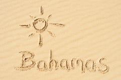 Le Bahamas nella sabbia Fotografie Stock Libere da Diritti