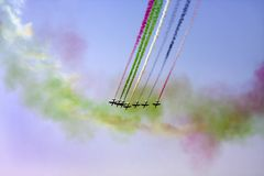 Le Bahrain Airshow international 2012, Al Fursan Photographie stock libre de droits