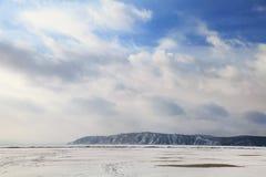 Le Baikal figé Photographie stock libre de droits