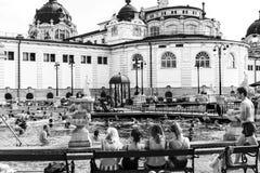 Le bain médicinal de Szechenyi le plus ancien est le plus grand bain médicinal en Europe Photos libres de droits