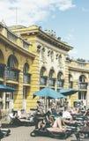 Le bain médicinal de Szechenyi le plus ancien est le plus grand bain médicinal en Europe Photo libre de droits
