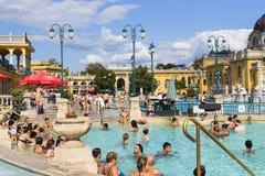 Le bain médicinal de Szechenyi le plus ancien est le plus grand bain médicinal en Europe Image stock
