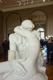Le Baiser (meaning The Kiss) sculpture by Auguste Rodin in Paris Stock Images