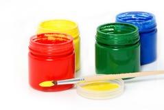 le balai basé peint l'eau Photos libres de droits