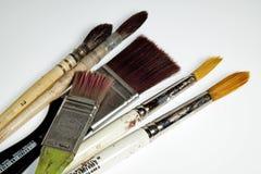 Le balai de peintre Photographie stock libre de droits
