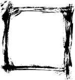 Le balai frotte le vecteur de cadre Photographie stock