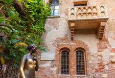 Le balcon de Romeo et de Juliet à Vérone, Italy Photographie stock