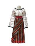 Le Balkan a brodé les vêtements traditionnels nationaux de costume d'isolement photo stock
