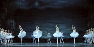 le ballet de lac de cygne a exécuté par le ballet royal russe Photos stock