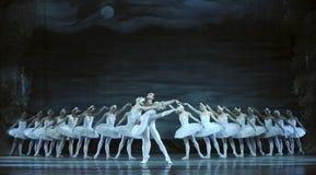 le ballet de lac de cygne a exécuté par le ballet royal russe Images libres de droits