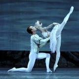 Le ballet de lac swan a exécuté par le ballet royal russe Photo libre de droits