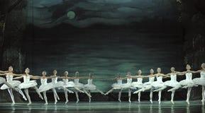 Le ballet de lac swan a exécuté par le ballet royal russe Image stock