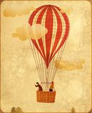 Ballon à air chaud de cru illustration stock