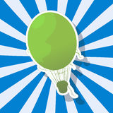 Le ballon à air chaud fantastique Image stock
