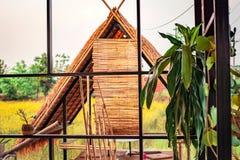 Le bambou dans la ferme images libres de droits