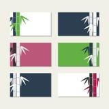 Le bambou refoule des cartes de voeux Photographie stock libre de droits