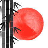 Le bambou refoule le fond Photo libre de droits