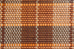 Abat-jour rouges et bruns de bambou de ton Photographie stock