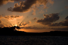 Le banc de sable d'Allen, Exumas, Bahamas Images libres de droits
