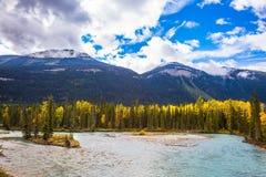 Le banche del fiume freddo fotografia stock libera da diritti