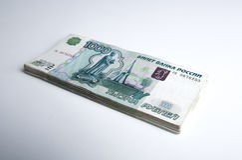 Le banconote hanno denominato 1000 rubli Fotografie Stock Libere da Diritti
