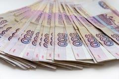 Le banconote 500 rubli Fotografia Stock