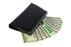 Banconote e portafogli Immagini Stock Libere da Diritti