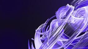 Le bande blu variopinte torcono in una formazione circolare, movimento in un cerchio Il fondo creativo senza cuciture, ha avvolto illustrazione vettoriale