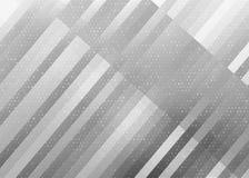 Le bande diagonali ed i quadrati di semitono modellano in Gray Background illustrazione di stock