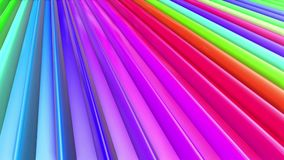 Le bande multicolori dell'arcobaleno si muovono periodicamente Fondo luminoso senza cuciture dell'estratto 3d in 4k La geometria  royalty illustrazione gratis
